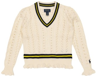 Polo Ralph Lauren Kids Cable-knit cotton sweater
