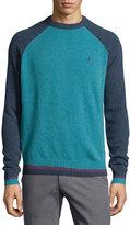 Original Penguin Wool Long-Sleeve Crewneck Jersey Sweater, Seaport