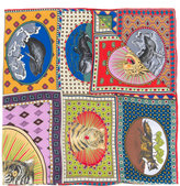 Gucci Tiger Cards print scarf