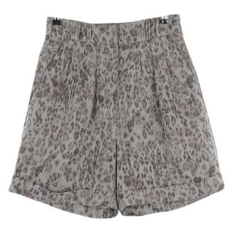IRO Green Polyester Shorts