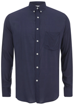 Ami Men's Summer Fit Long Sleeve Shirt Navy