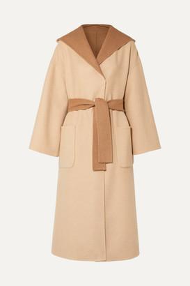 Brunello Cucinelli Reversible Belted Camel Hair-blend Coat