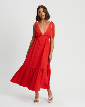 Tussah - Women's Red Maxi dresses - Kate Maxi Dress - Size One Size, 10 at The Iconic
