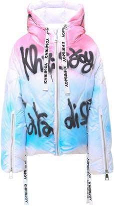 KHRISJOY Graphic Printed Down Jacket