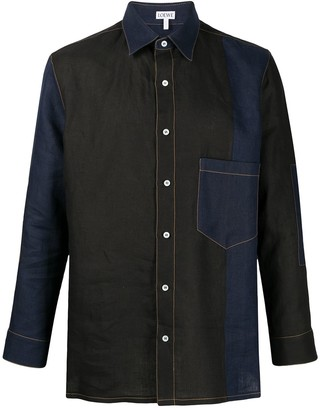 Loewe Contrast-Stitch Panelled Shirt