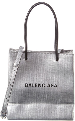 Balenciaga Shopping Xxs North South Leather Tote