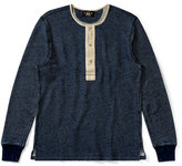 Ralph Lauren Indigo Cotton Henley Shirt