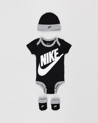 Nike Black Bodysuits - Futura Logo Boxed Set - Babies - Size 0-6 months at The Iconic