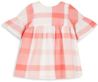 Tartine et Chocolat Baby's & Little Girl's Gingham Bell-Sleeve A-Line Dress