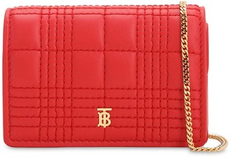 Burberry JESSIE QUILTED LEATHER WALLET CHAIN