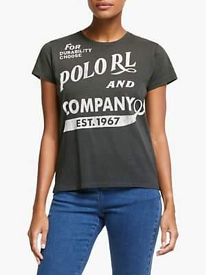 Ralph Lauren Polo Crew Neck Logo T-Shirt, Black Mask