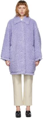 Stand Studio Purple Faux-Fur Jacey Coat