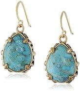 Barse Jubilee Teardrop Bronze and Turquoise Earrings