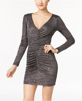 Teeze Me Juniors' Glitter Ruched Bodycon Dress