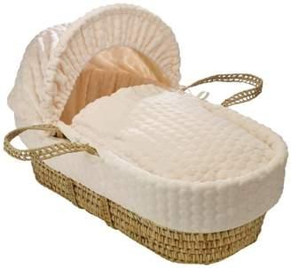 Clair De Lune Marshmallow Palm Moses Basket inc. Bedding, Mattress & Adjustable Hood (Blue)