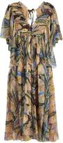 Rochas Tulip-print silk-chiffon midi dress