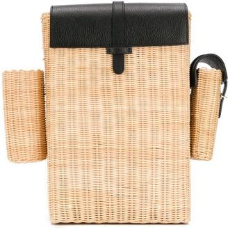 Natasha Zinko Picnic Straw Backpack