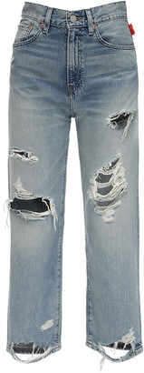 Denimist Pierce High Waist Destroyed Denim Jeans