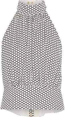 Diane von Furstenberg Polka-dot Stretch-silk Halterneck Blouse
