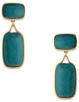 Lauren Ralph Lauren Lauren Treasure Trove Turquoise and 12K Gold-Plated Double Drop Clip-On Earrings