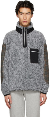 Rassvet Grey Fleece Quarter Zip Up Sweater