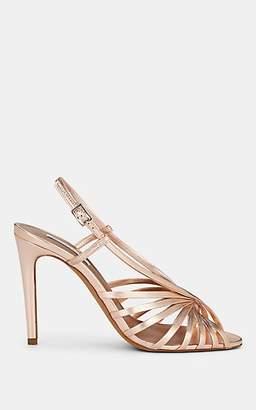 Tabitha Simmons Women's Jazz Metallic Leather Sandals - Rose