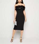 New Look Organza Bandeau Bodycon Dress