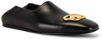 Balenciaga Cosy Bb Loafer F005 in Black & Gold | FWRD