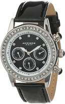Akribos XXIV Women's AK556BK Multi-Function Dazzling Strap Watch