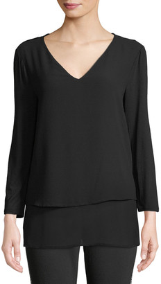MICHAEL Michael Kors Multilayer Woven Top