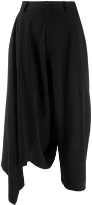 Yohji Yamamoto Asymmetric Cropped Trousers