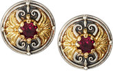 Konstantino Artemis Rhodolite Button Earrings