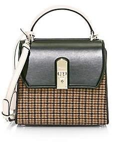 Salvatore Ferragamo Women's Medium Boxyz Tweed & Leather Top Handle Bag