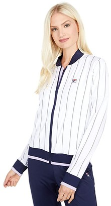 Fila Heritage Jacket (White/Navy/Pastel Lilac) Women's Coat