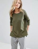Noisy May Loose Step Hem Sweatshirt