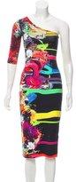 Preen Graphic Print One-Shoulder Dress