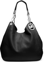 Michael Kors Fulton Leather Tote Shoulder Handbag (Black)