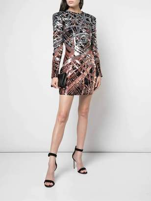 Balmain sequinned mini dress