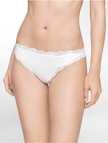 Calvin Klein Cotton Thong With Lace