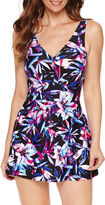 AZUL BY MAXINE OF HOLLYWOOD Azul by Maxine of Hollywood Floral Swim Dress