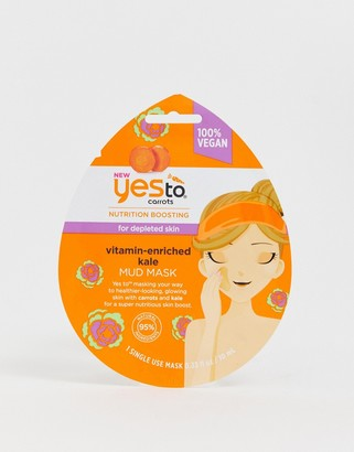 Yes To Carrot & Kale Nutrition Boosting Mud Mask (Single Use)-No Color