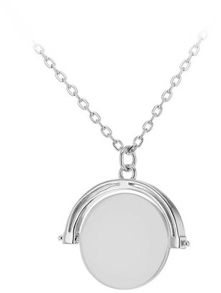 The Love Silver Collection Rhodium Plated Sterling Silver Round Spinner Necklace