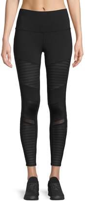 Alo Yoga Cropped Stretch Moto Leggings