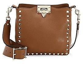 Valentino Women's Garavani Mini Rockstud Leather Hobo Bag