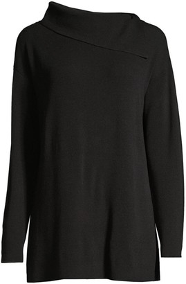 Lafayette 148 New York Asymmetric Long-Sleeve Sweater
