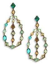 Ivy Demontoid Garnet & Green Tourmaline Teardrop Earrings