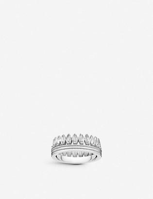 Thomas Sabo Magic Garden crown sterling silver and cubic zirconia ring