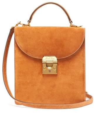 Mark Cross Uptown Suede Box Bag - Womens - Brown