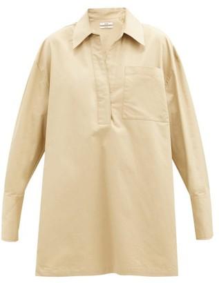 Co Patch-pocket Cotton Shirt - Beige