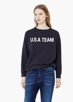 Mango Outlet Cotton-Blend Message Sweatshirt